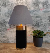 Empire Lampshade in Grey Linen and Choice of Lining