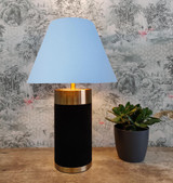 Empire Lampshade in Light Blue Cotton and Choice of Lining