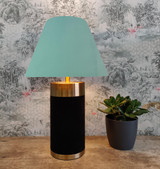 Empire Lampshade in Light Mint Green Velvet and Choice of Lining
