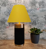 Empire Lampshade in Mustard Yellow Cotton and Choice of Lining