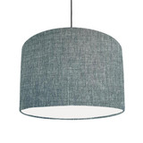Textured Duck Egg Blue Lampshade