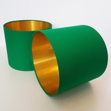 Emerald Green Lampshade with Brushed Metallic Gold Lining
