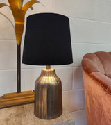 Black Velvet French Drum Lampshade with a Choice of Lining