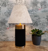 Empire Lampshade in White Crushed Velvet and Choice of Lining