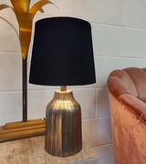 French Drum Lampshade in Black Cotton with a Choice of Lining