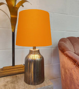 French Drum Lampshade in an Orange Cotton and a Choice of Lining