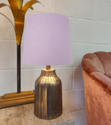 Lilac French Drum Lampshade in Cotton with a Choice of Lining