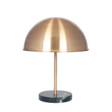 Champagne Metal Finish Art Deco Table Lamp, with Marble Base