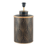 Art Deco Black and Gold Hand Painted Lamp Base