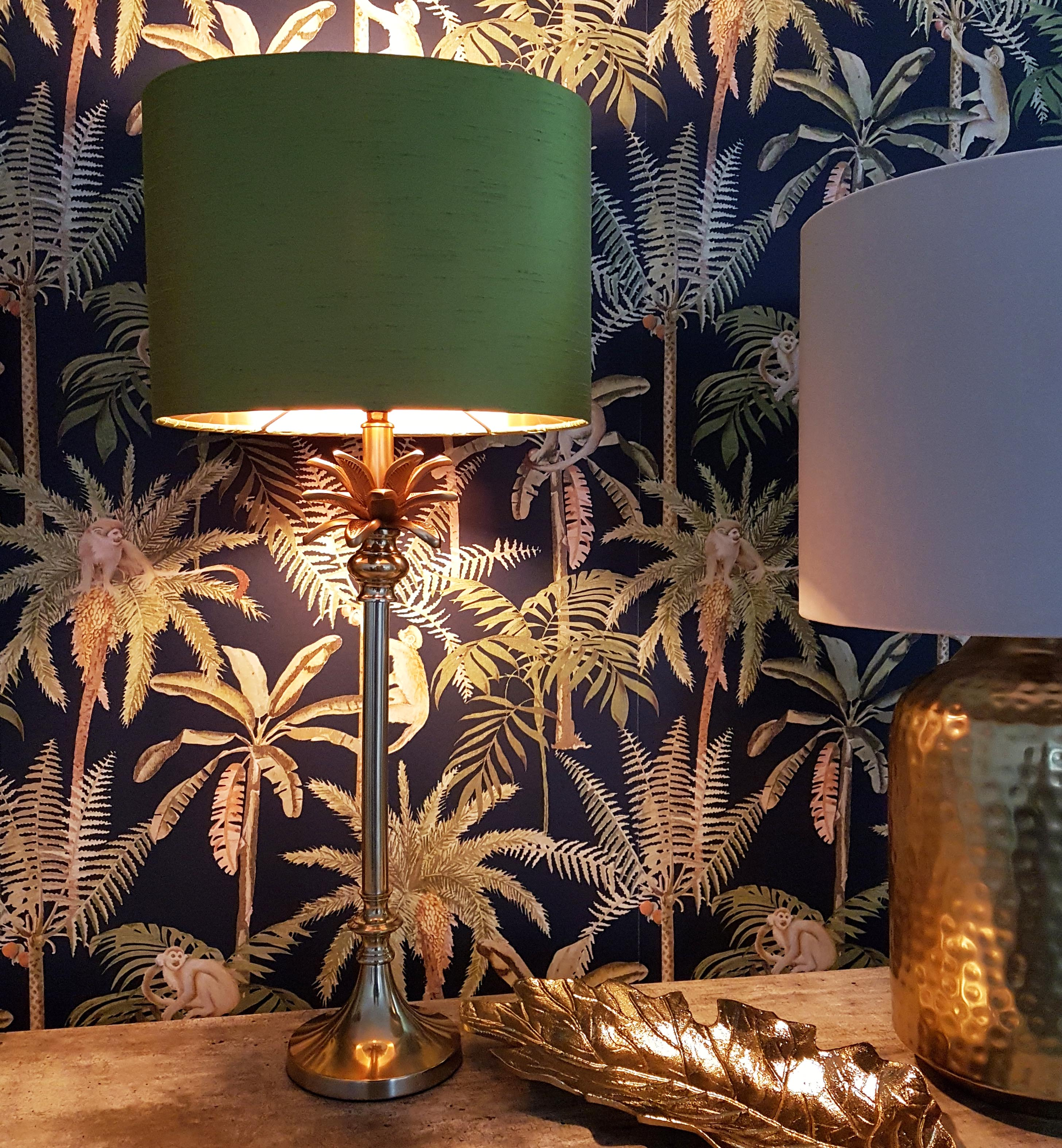 Palm Tree Table Lamp in Gold
