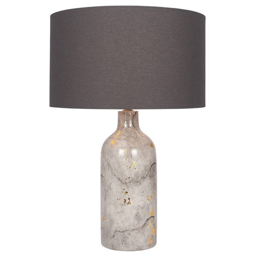 Marble Effect Gold Leaf Glaze Stoneware Table Lamp