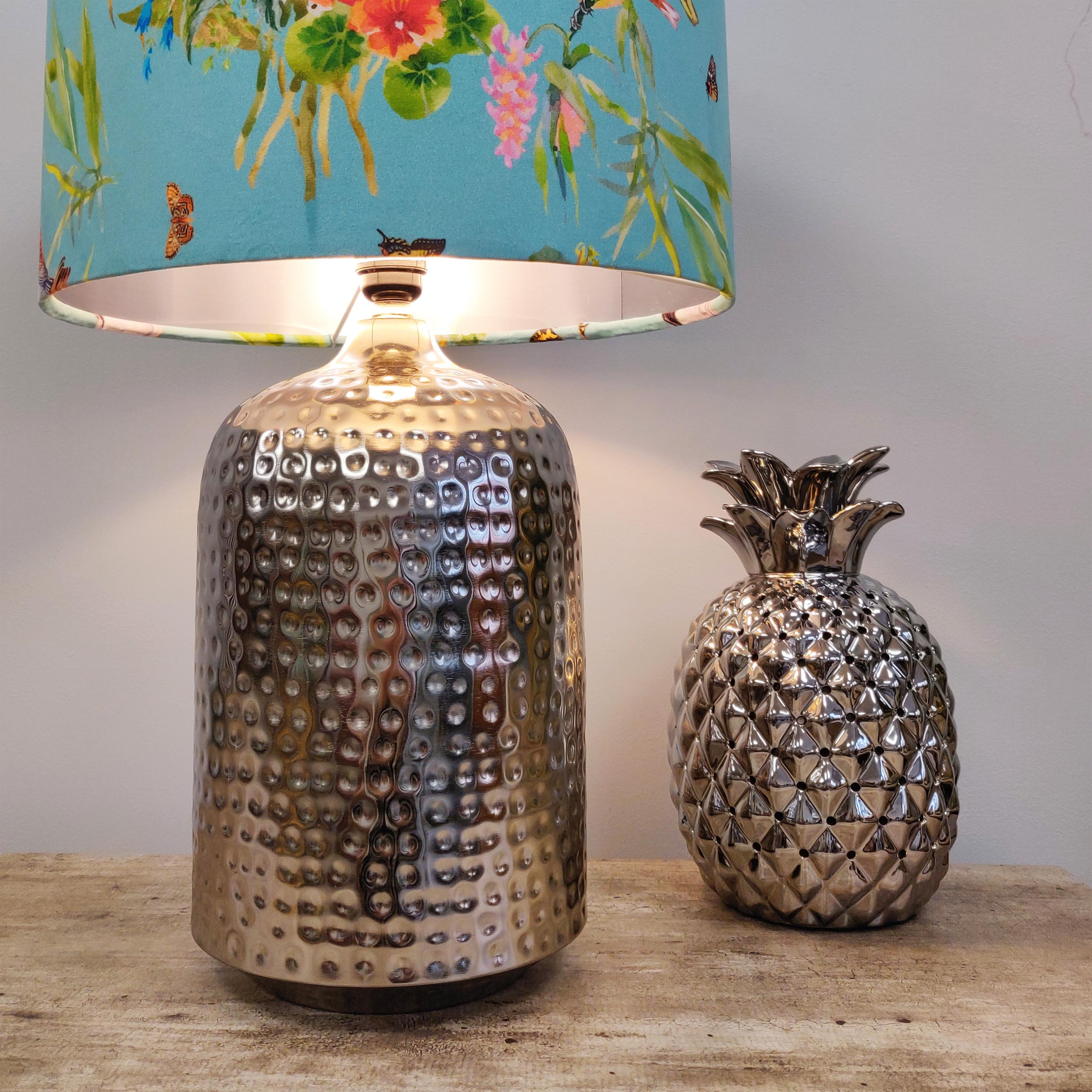 Large Silver Lamp