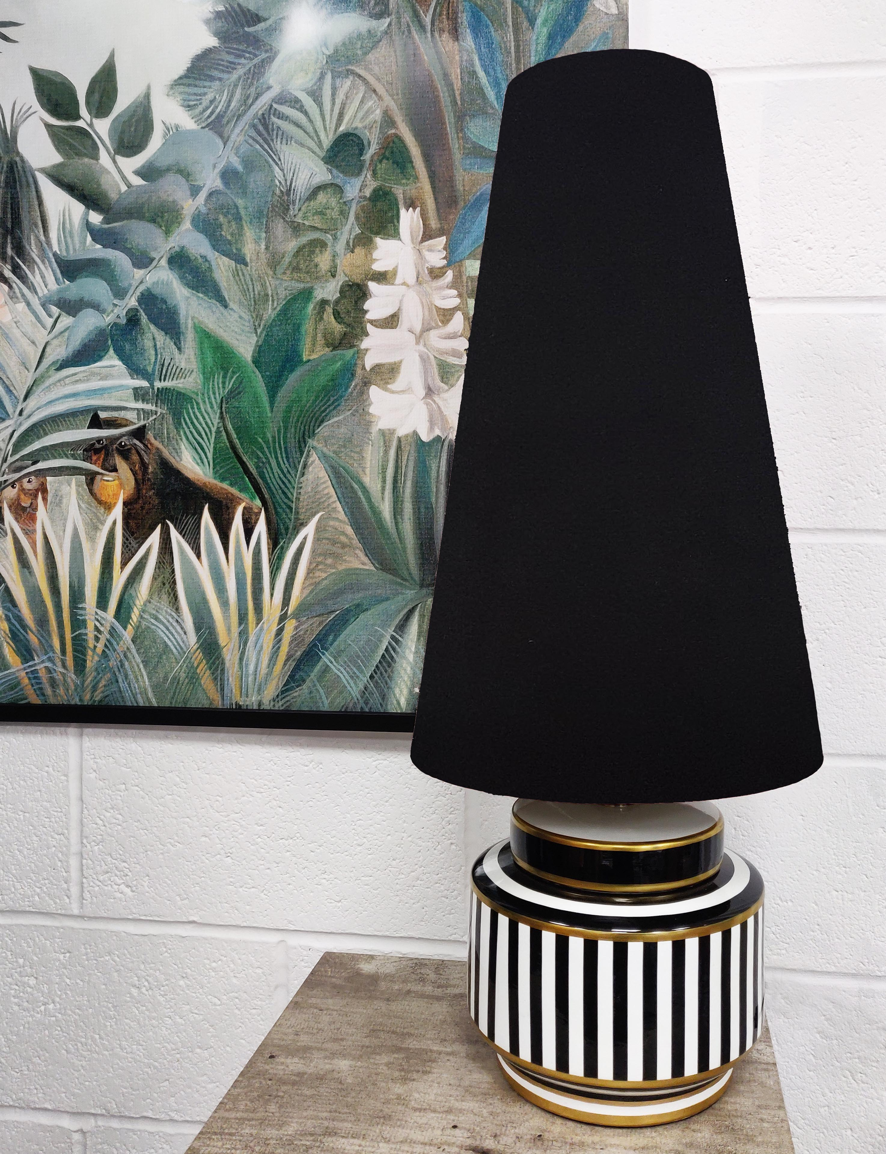Short Humbug table lamp with complementing Candid Owl cone lamp shade (Sold separately).