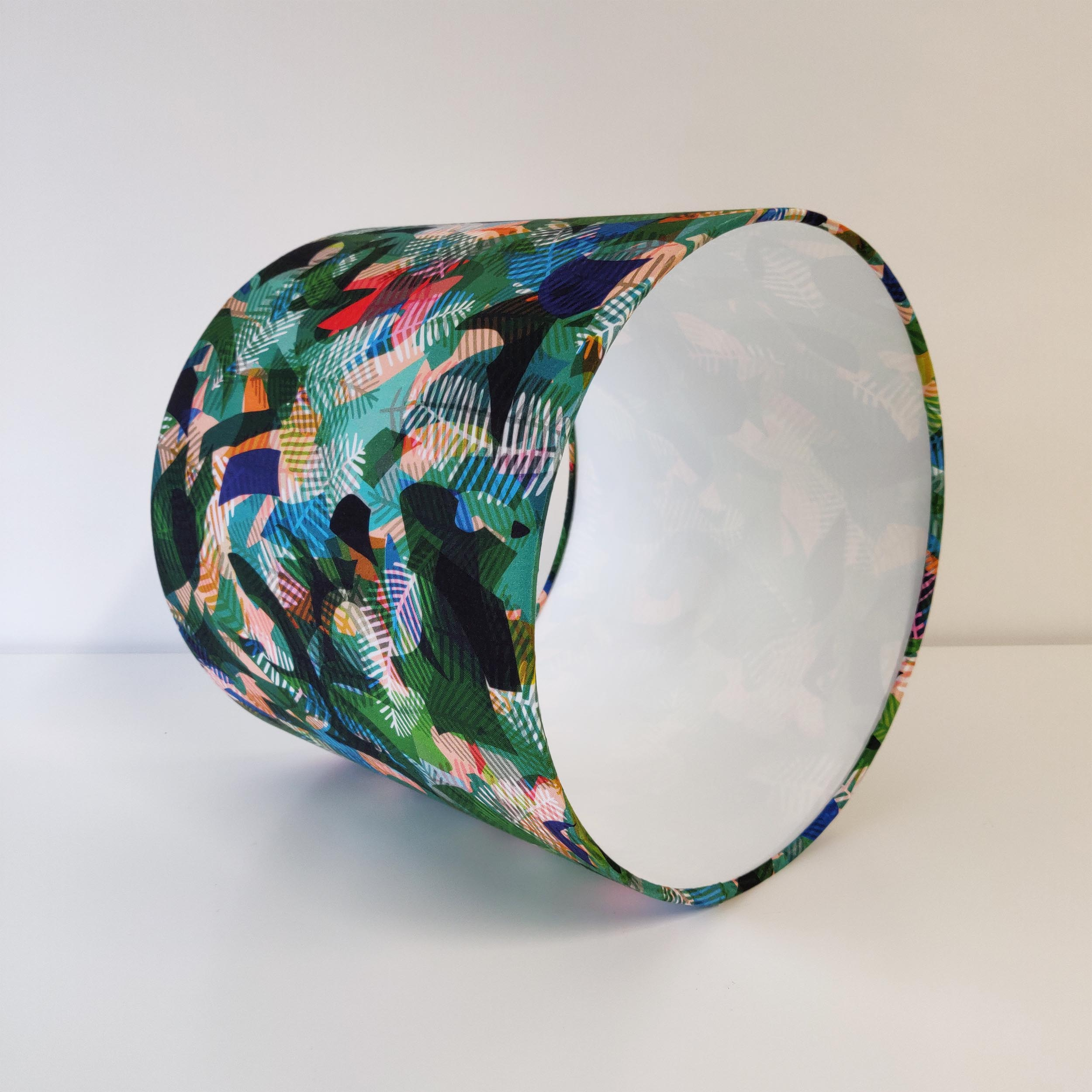 Green Botanical Lampshade in Paper Jungle