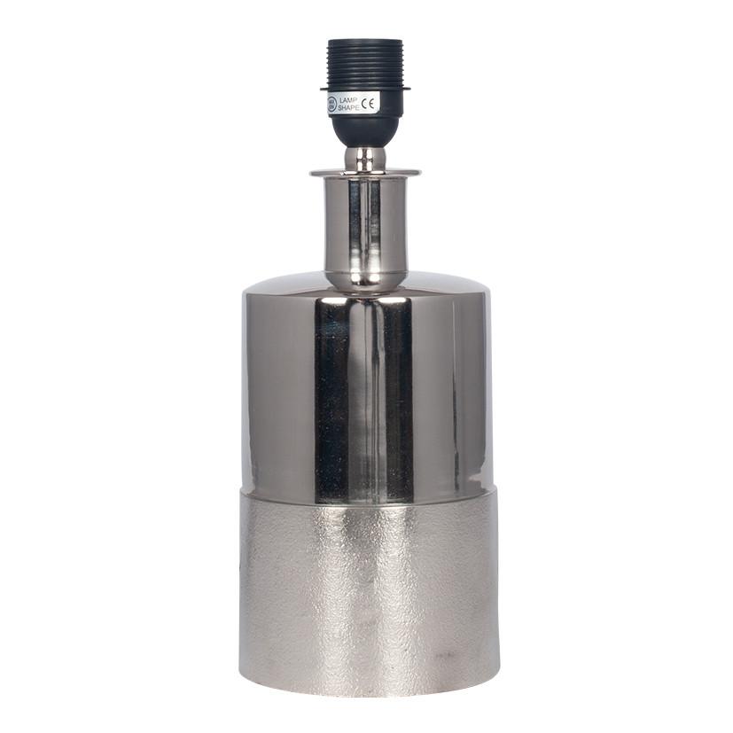 Silver Column Table Lamp