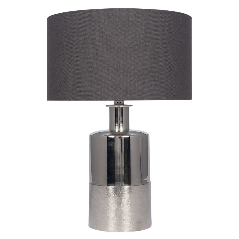 Silver Metal Lamp Base with Textured finish