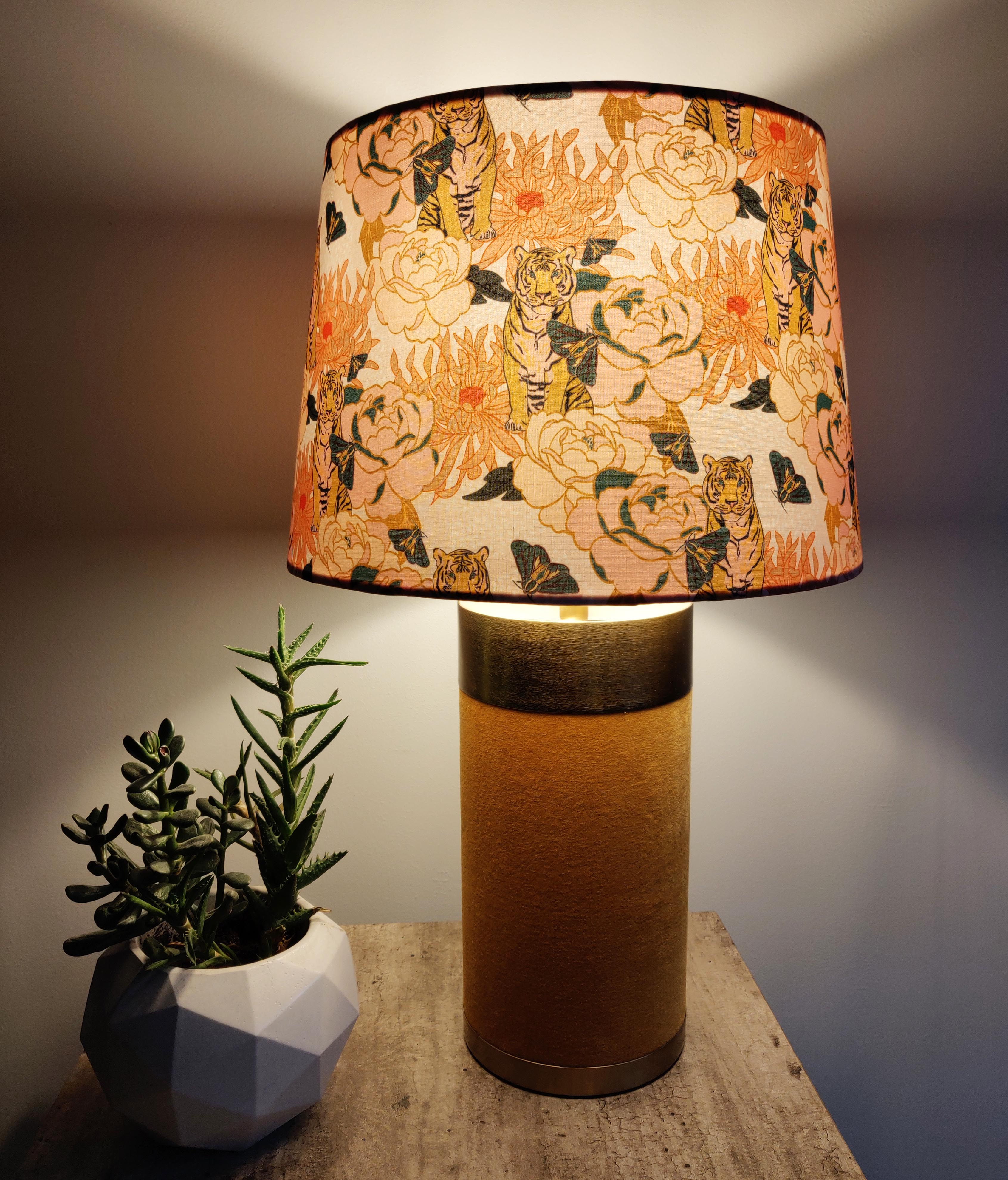 Tiger Lily Lampshade in Tapered Design