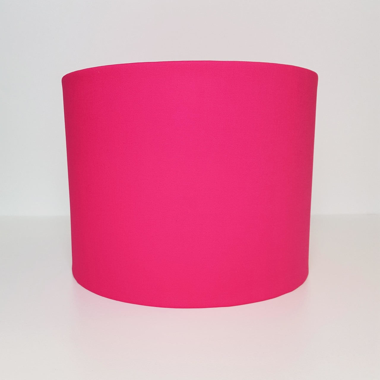 fuchsia lampshade with metallic brushed copper lining