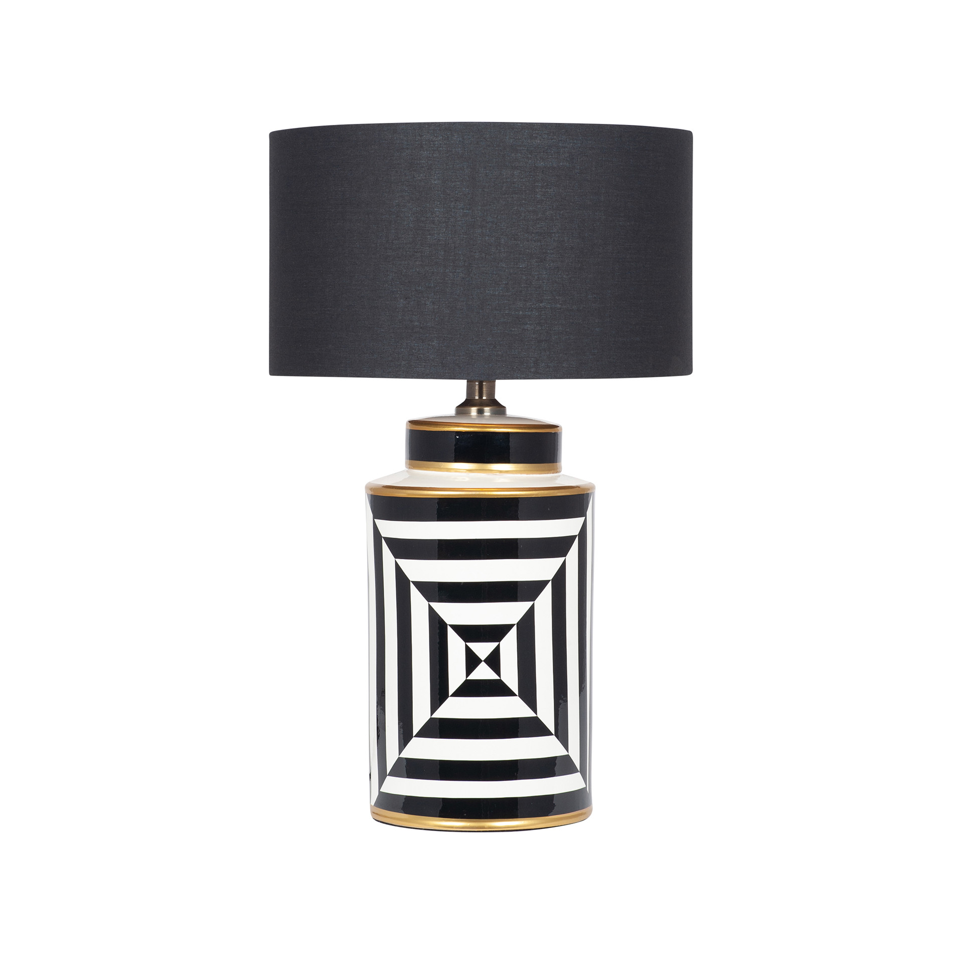 Monochrome Striped Table Lamp