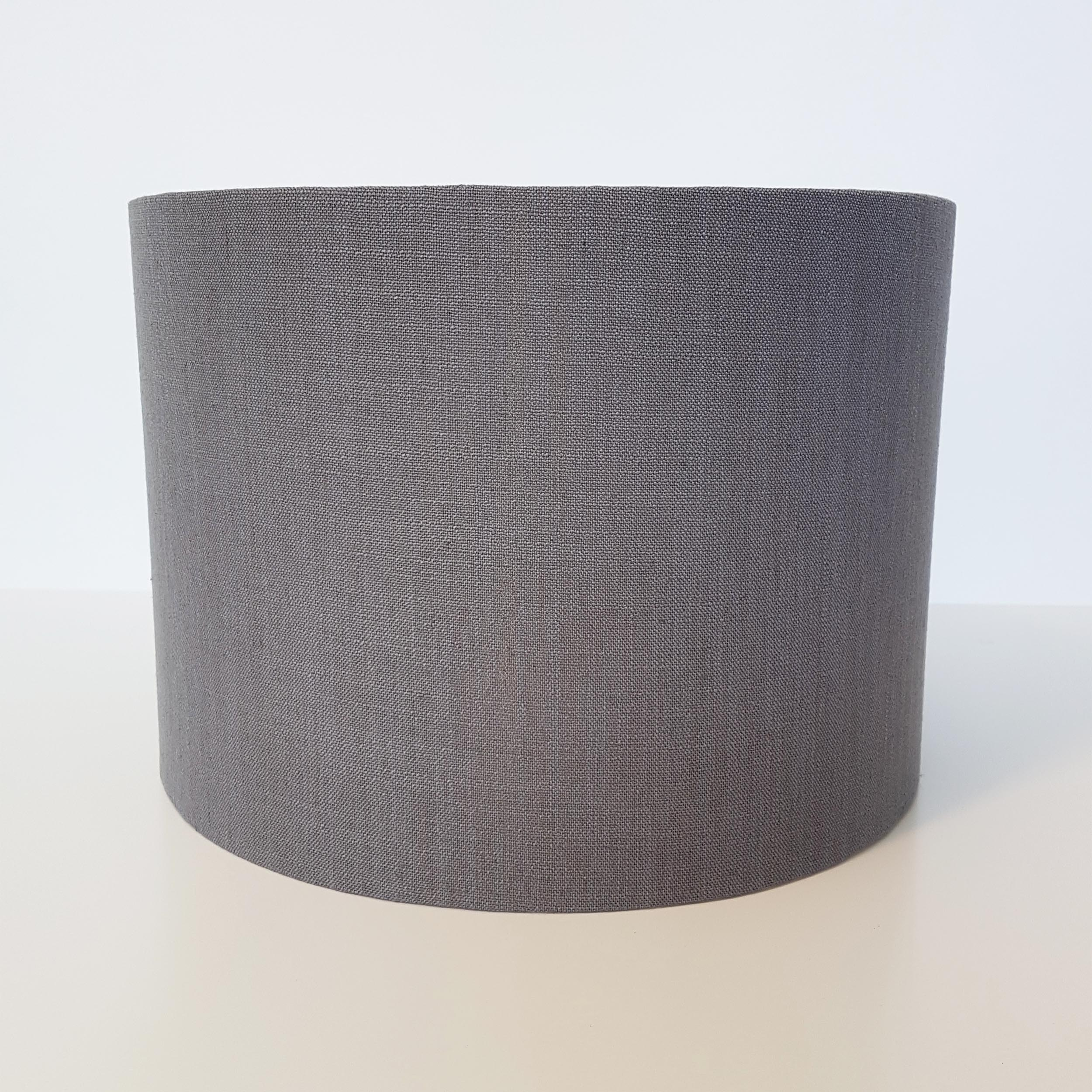 Grey Linen and Copper Lined Lampshade