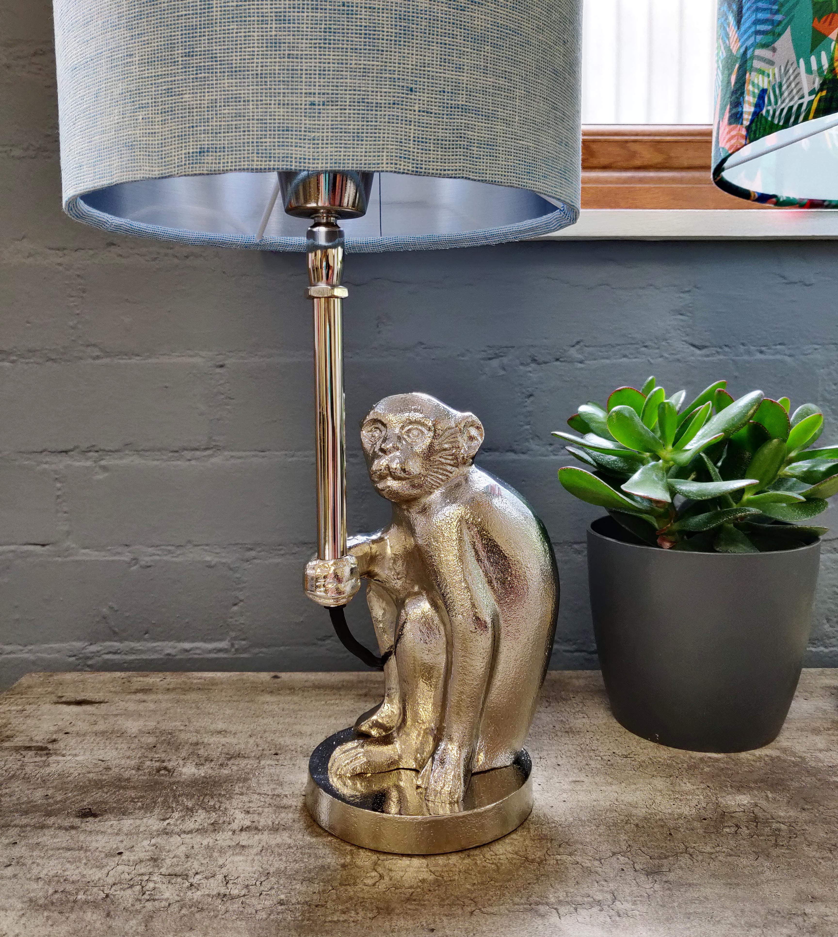 Small Table Lamp in Monkey Design