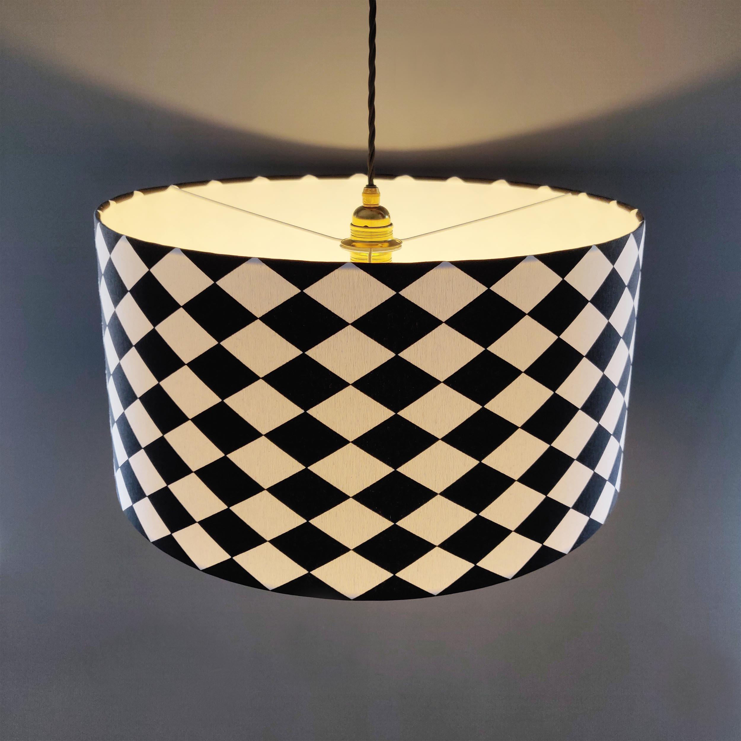 Black and White Monochrome Lampshade