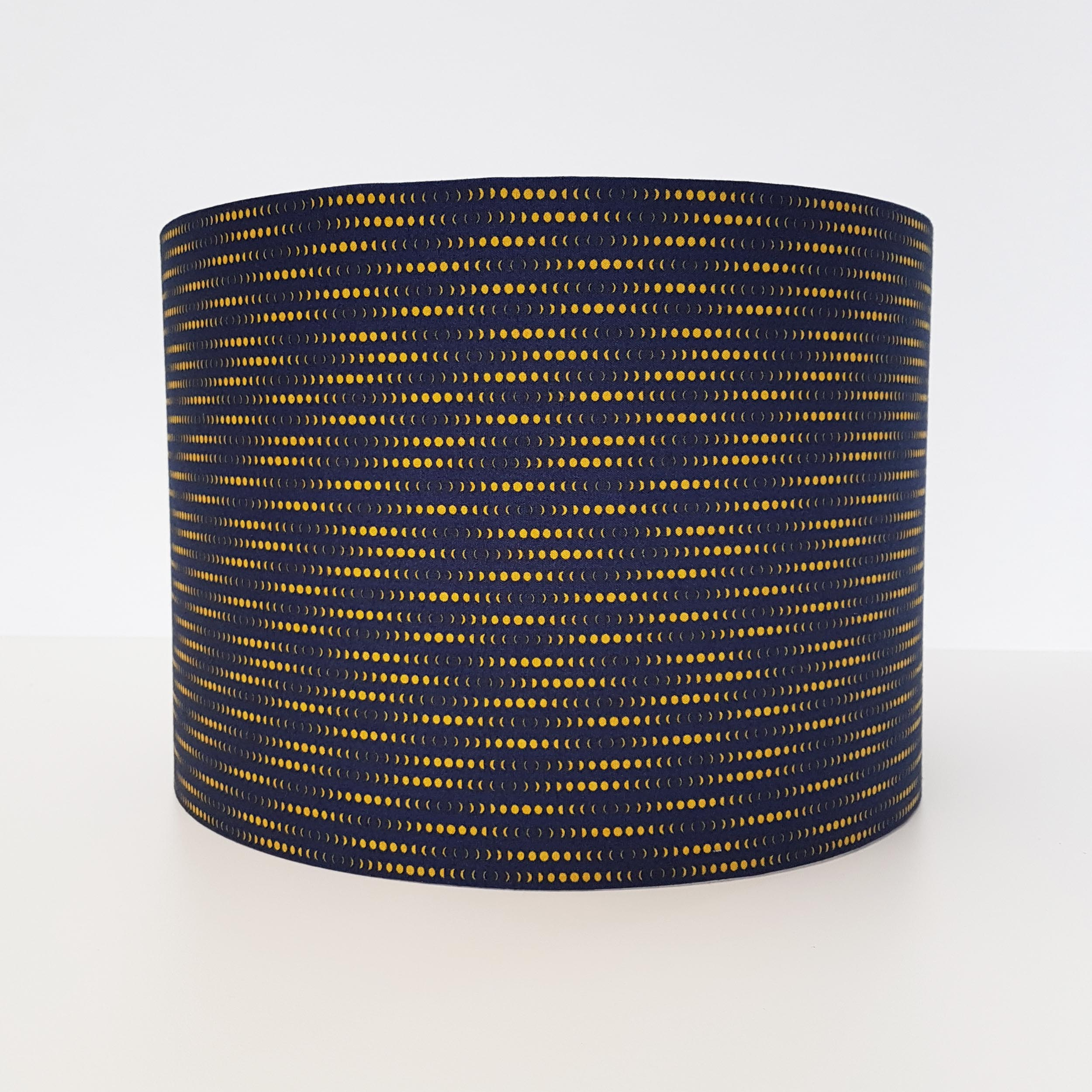 Deep Blue and Mustard Patterned Lampshade