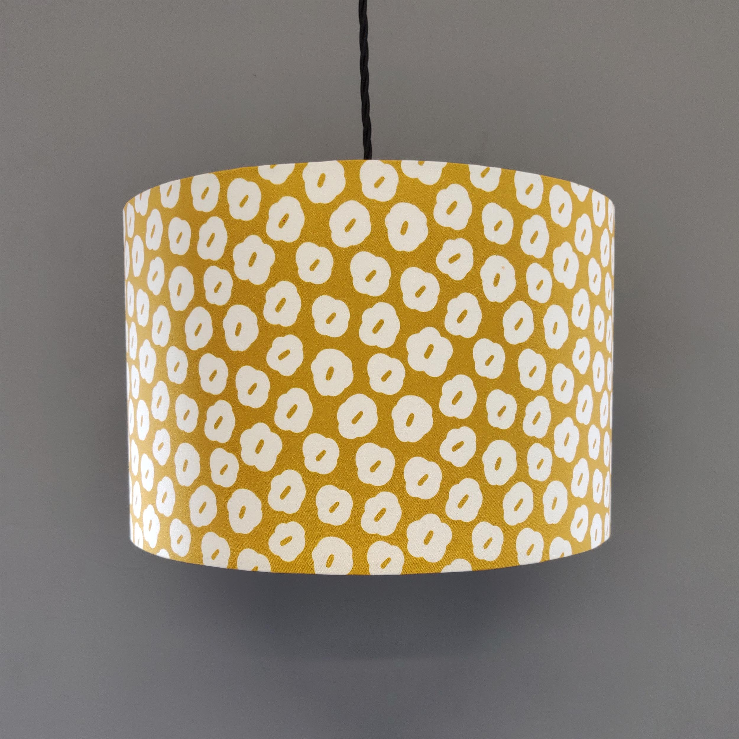 Mustard and White Floral lampshade