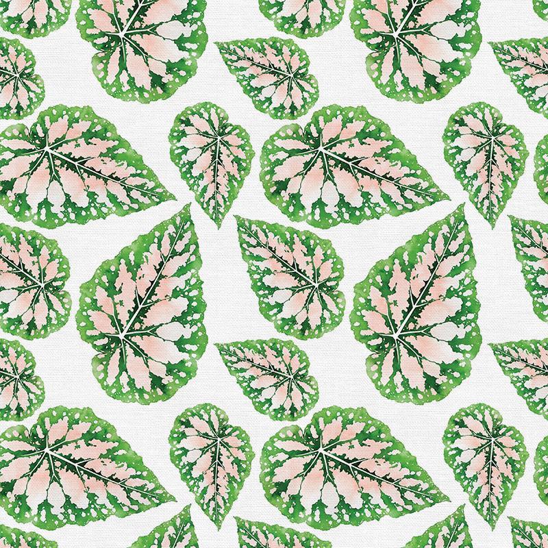 Modern Botanical Jungle Peach Fabric, By the Half or Full Metre