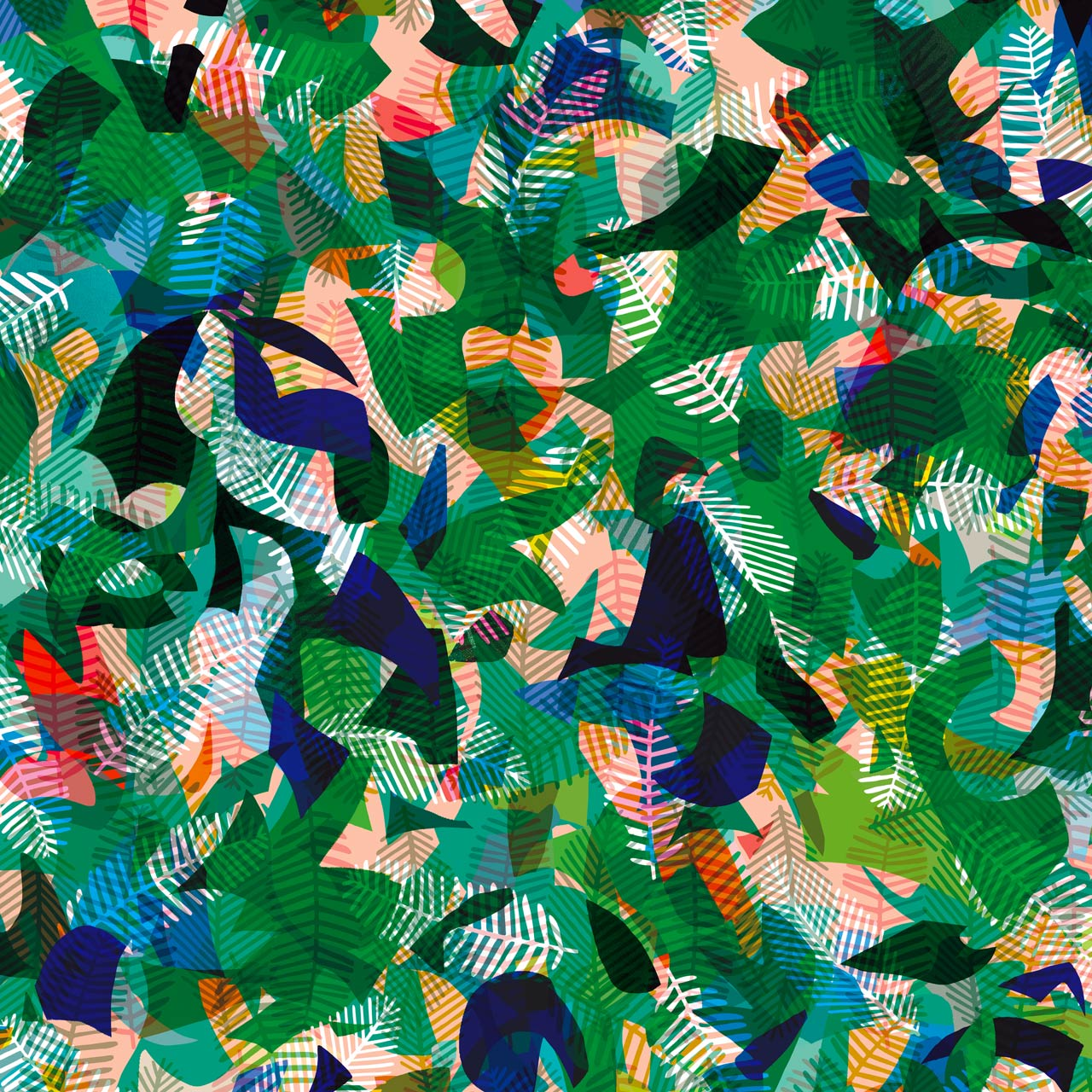 Paper Jungle Rayon Fabric, By the Half or Full Metre