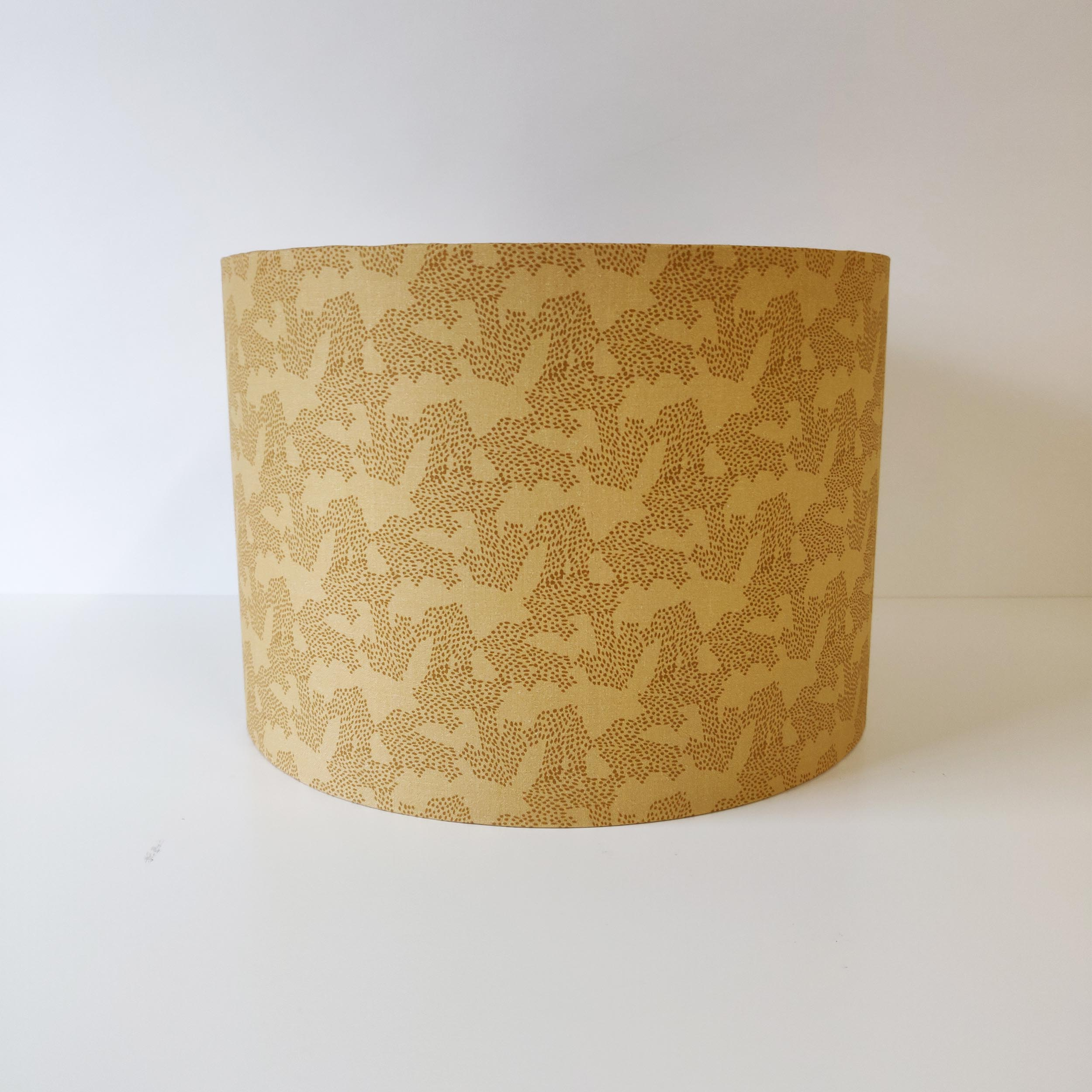 Mustard Tiger Lily Trail Lampshade
