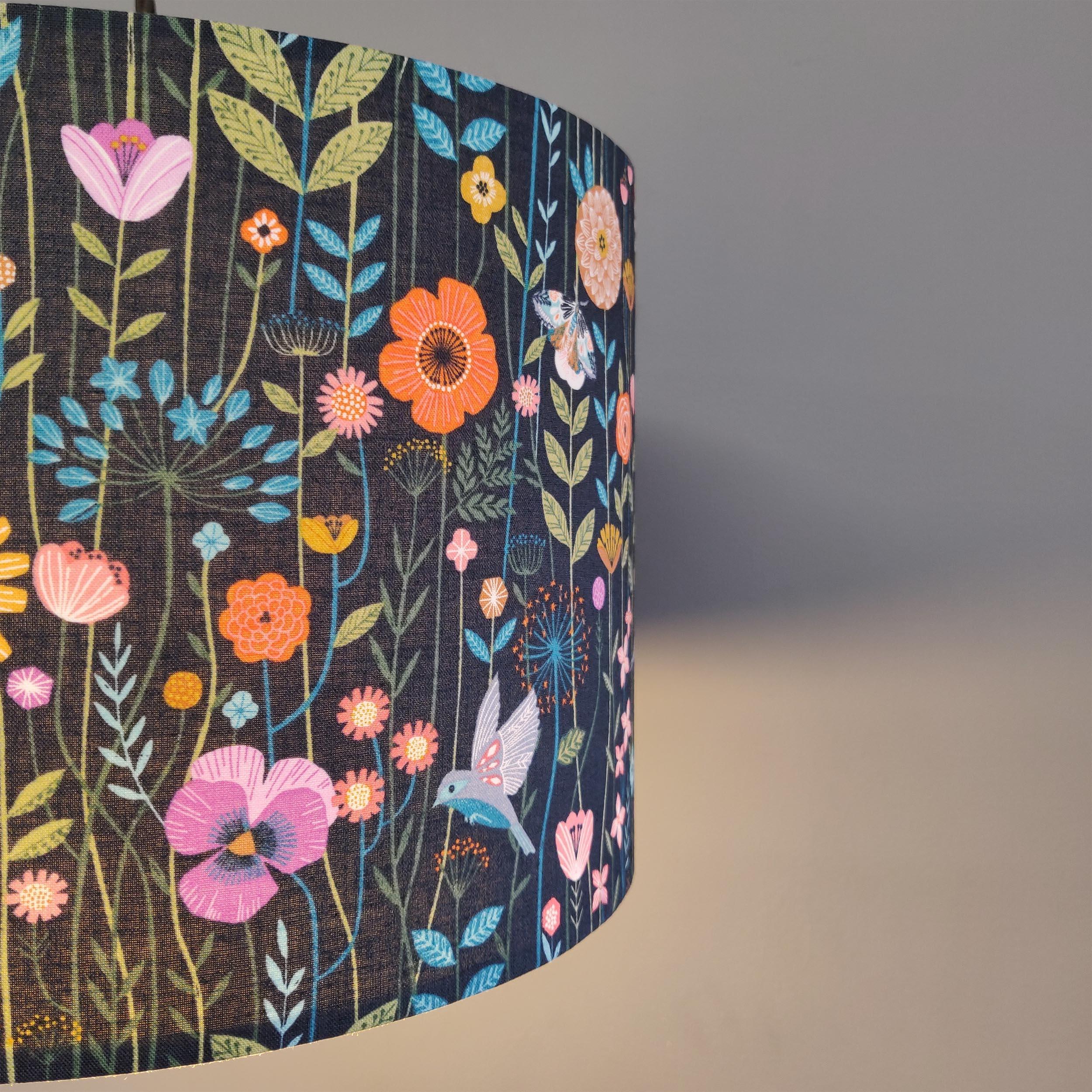 Dashwood Studio Aviary fabric lampshade