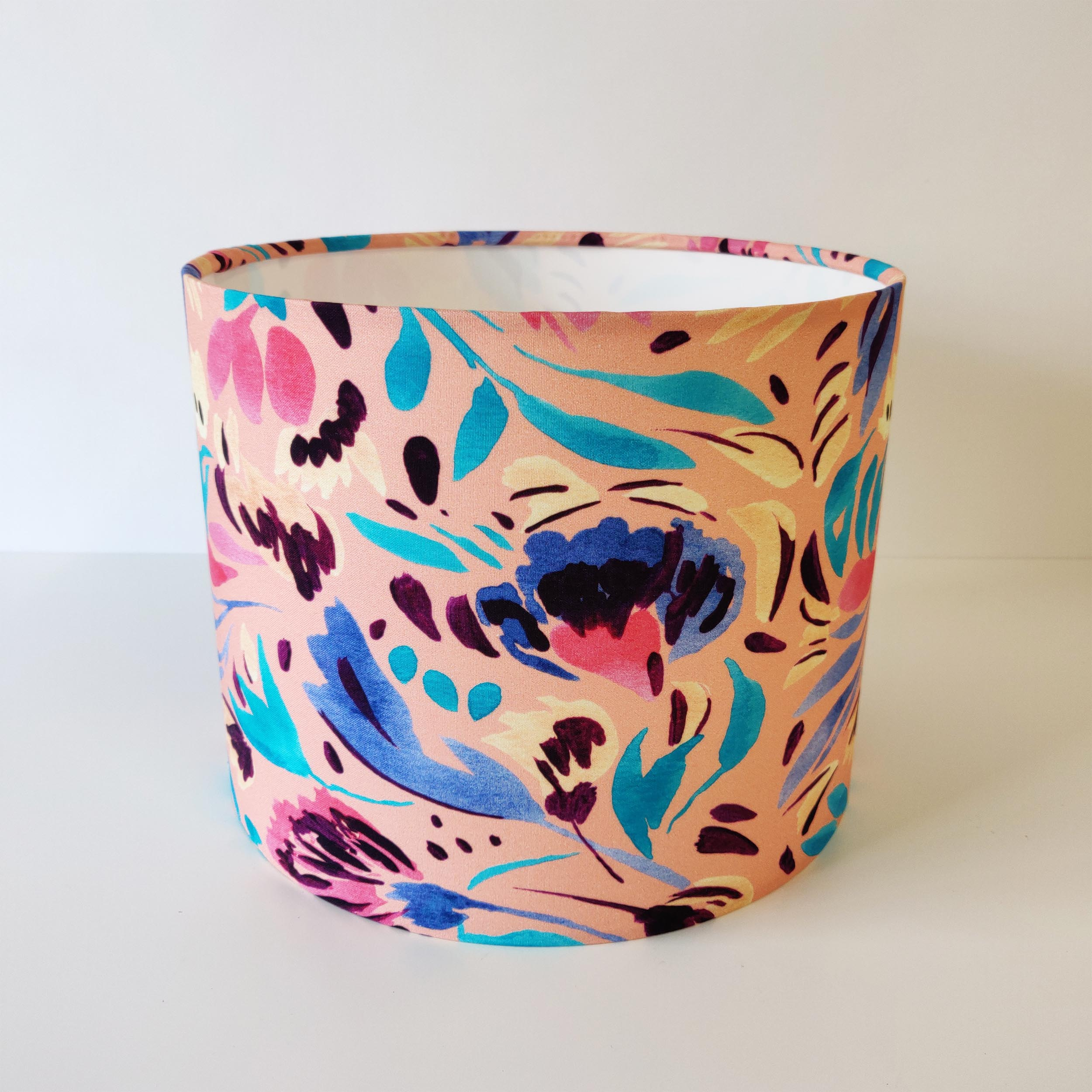 Multicoloured Floral Lampshade