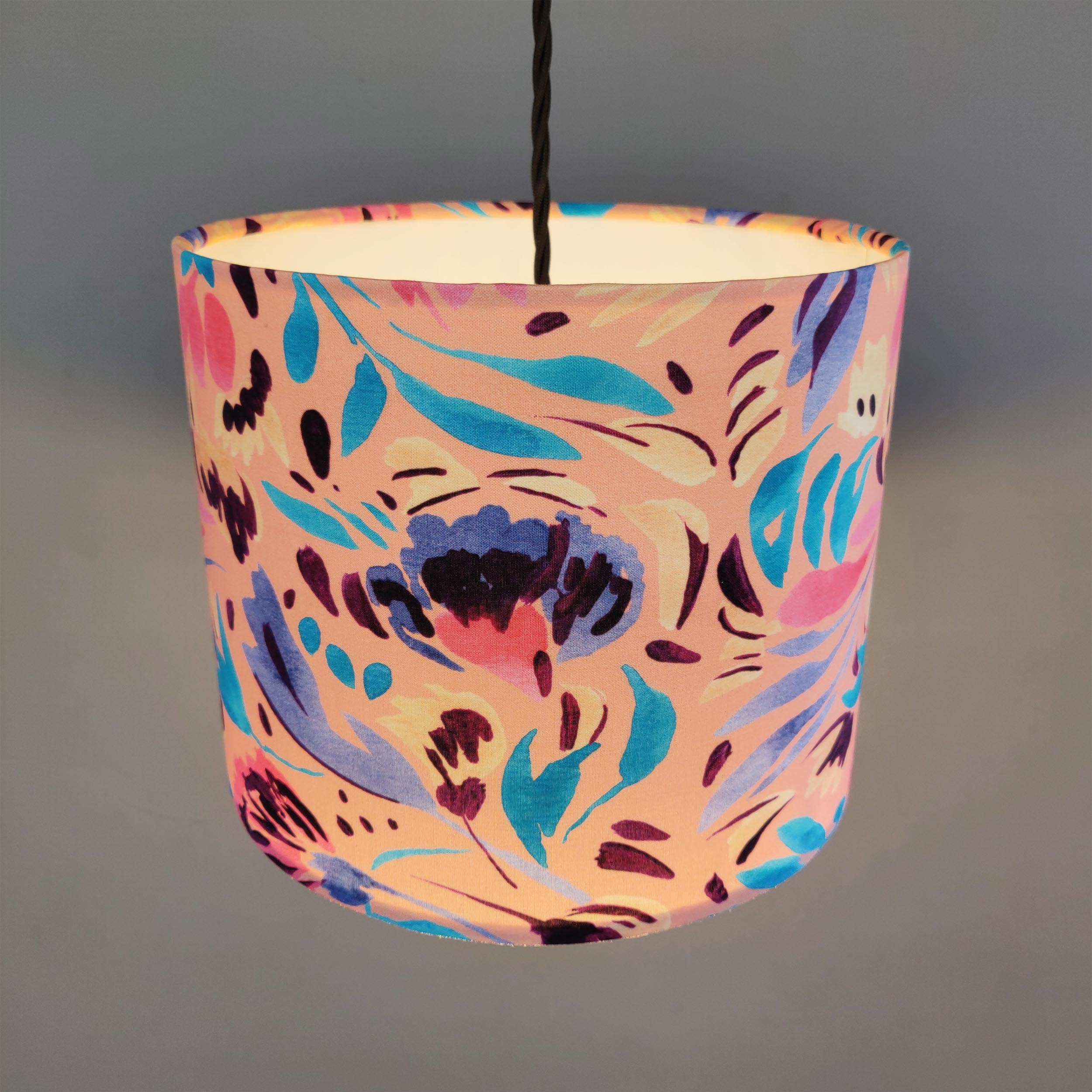 Windy Floral Lampshade in Coral