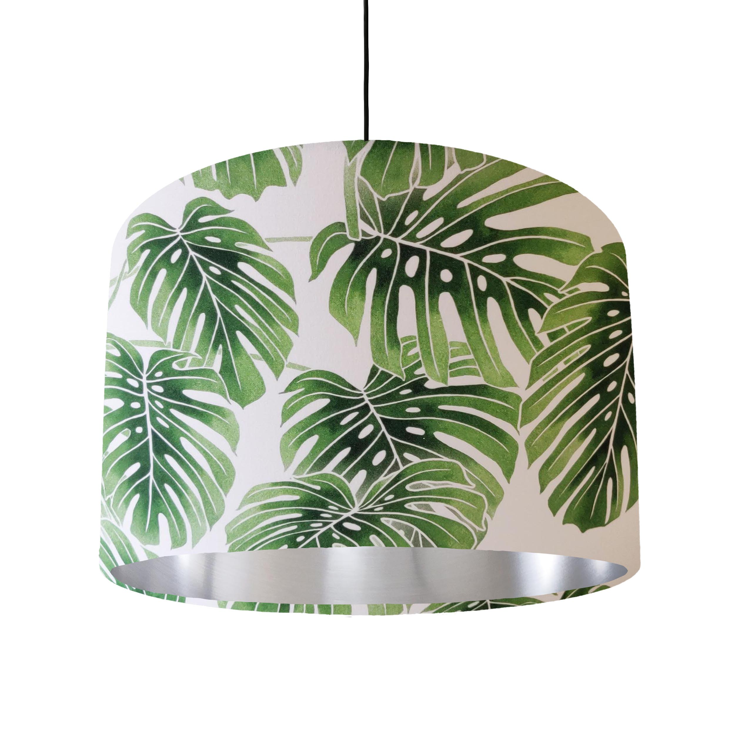 Palm Leaves Lampshade with Silver Liner