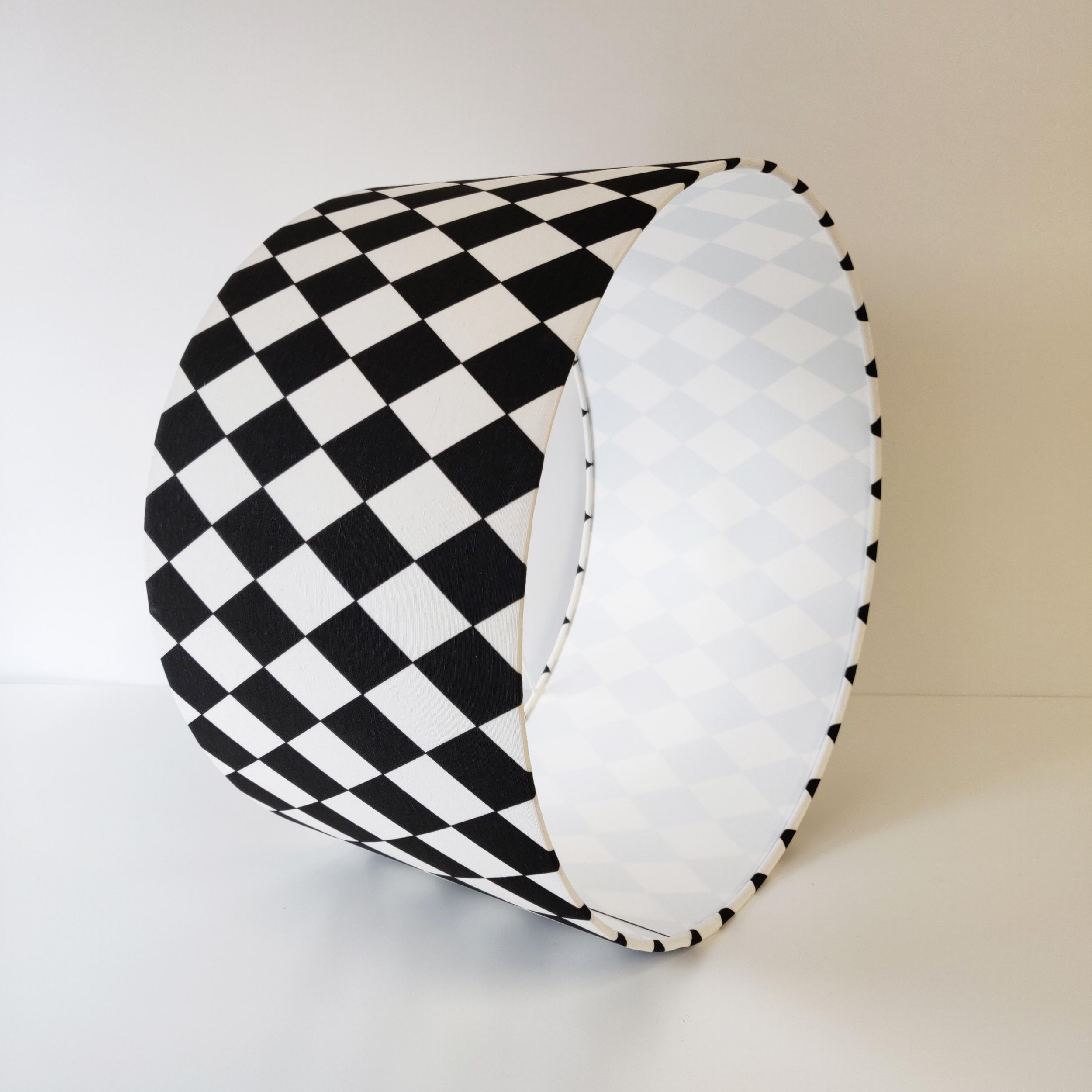 Black and White Monochrome Lampshade with Diffuser Option