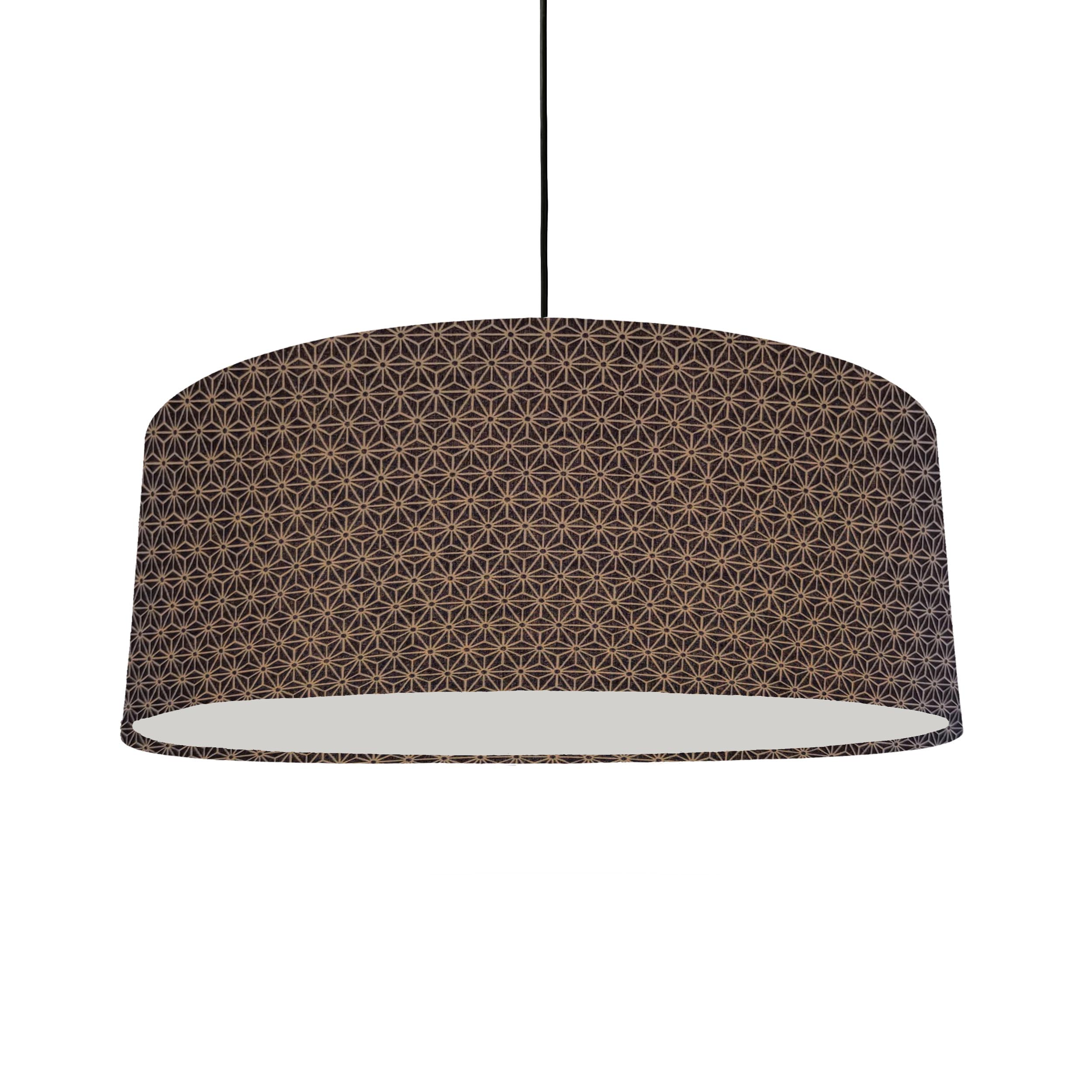 Extra Large Navy Kasuri Design Lampshade with Diffuser