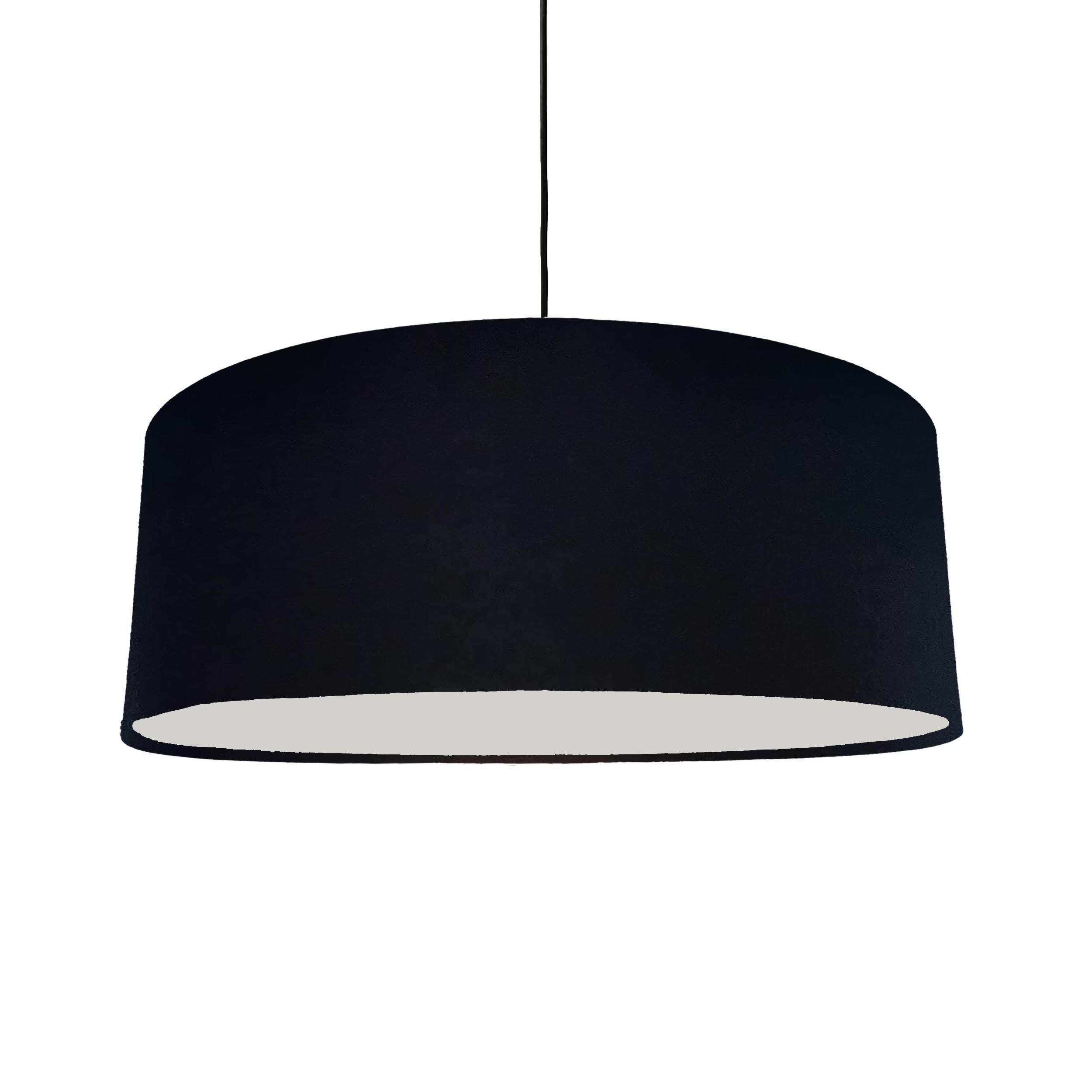 Extra Large Black Cotton Hanging Lampshade