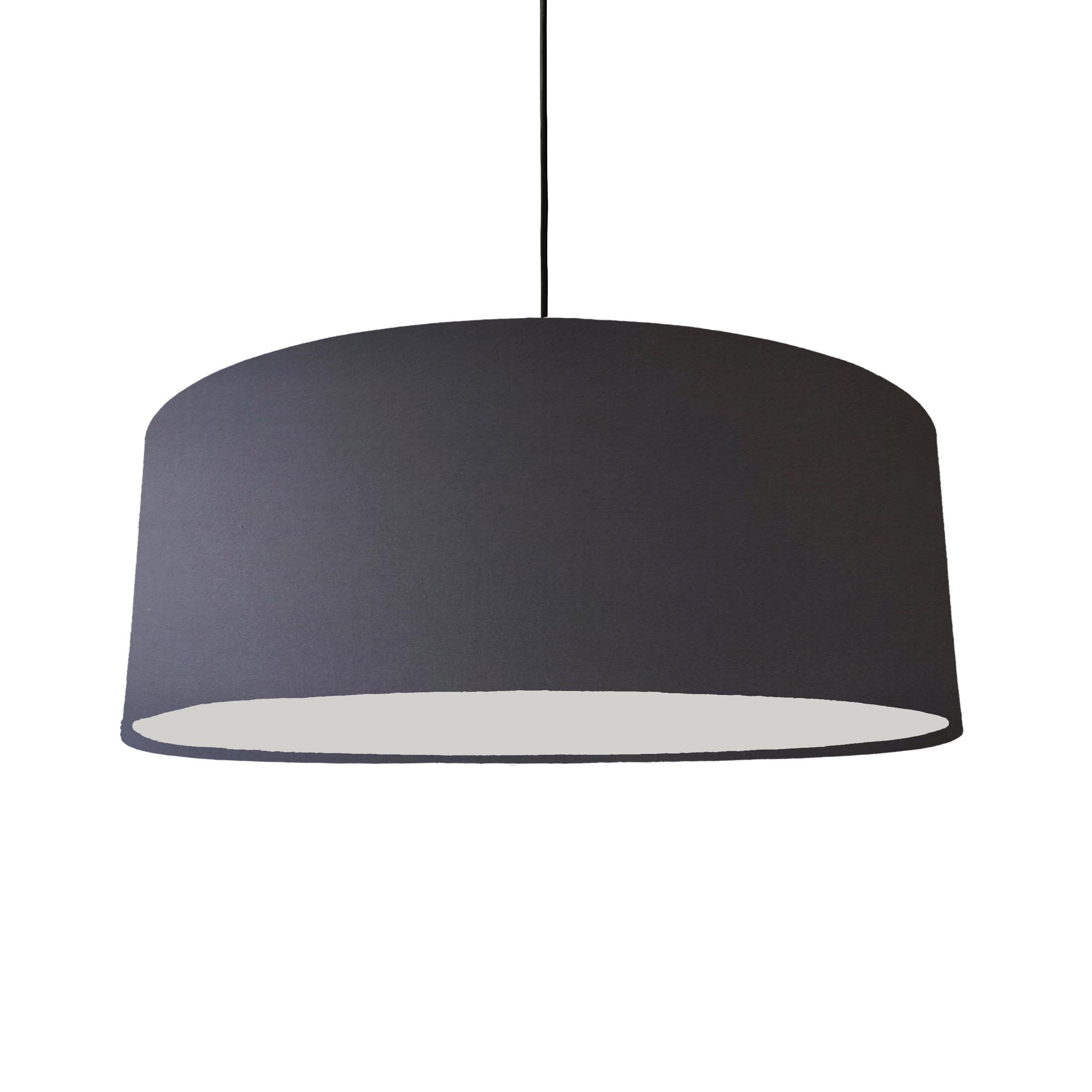 Extra Large Dark Grey Cotton Hanging Lampshade