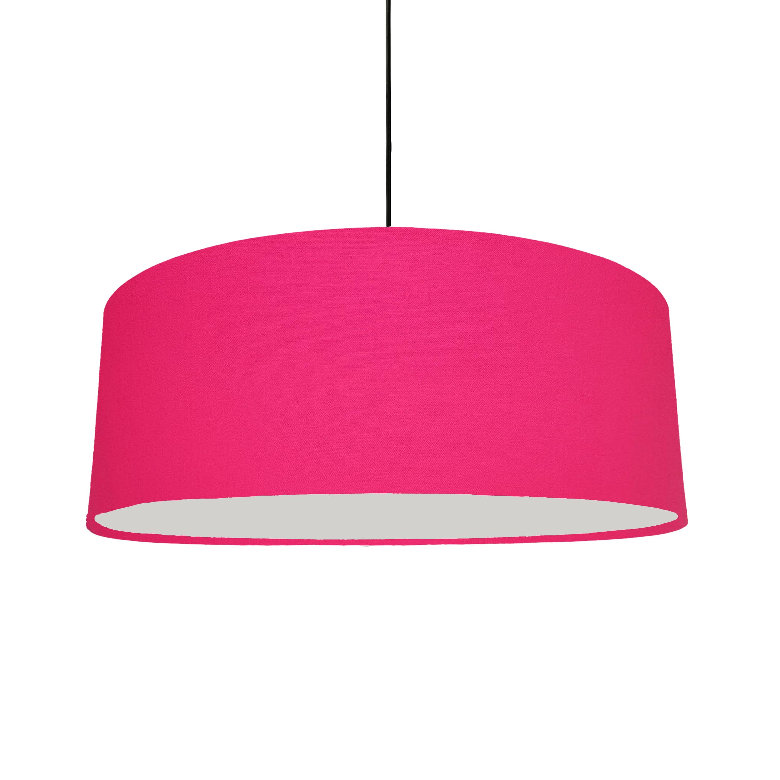 Extra Large Bright Pink Cotton Hanging Lampshade