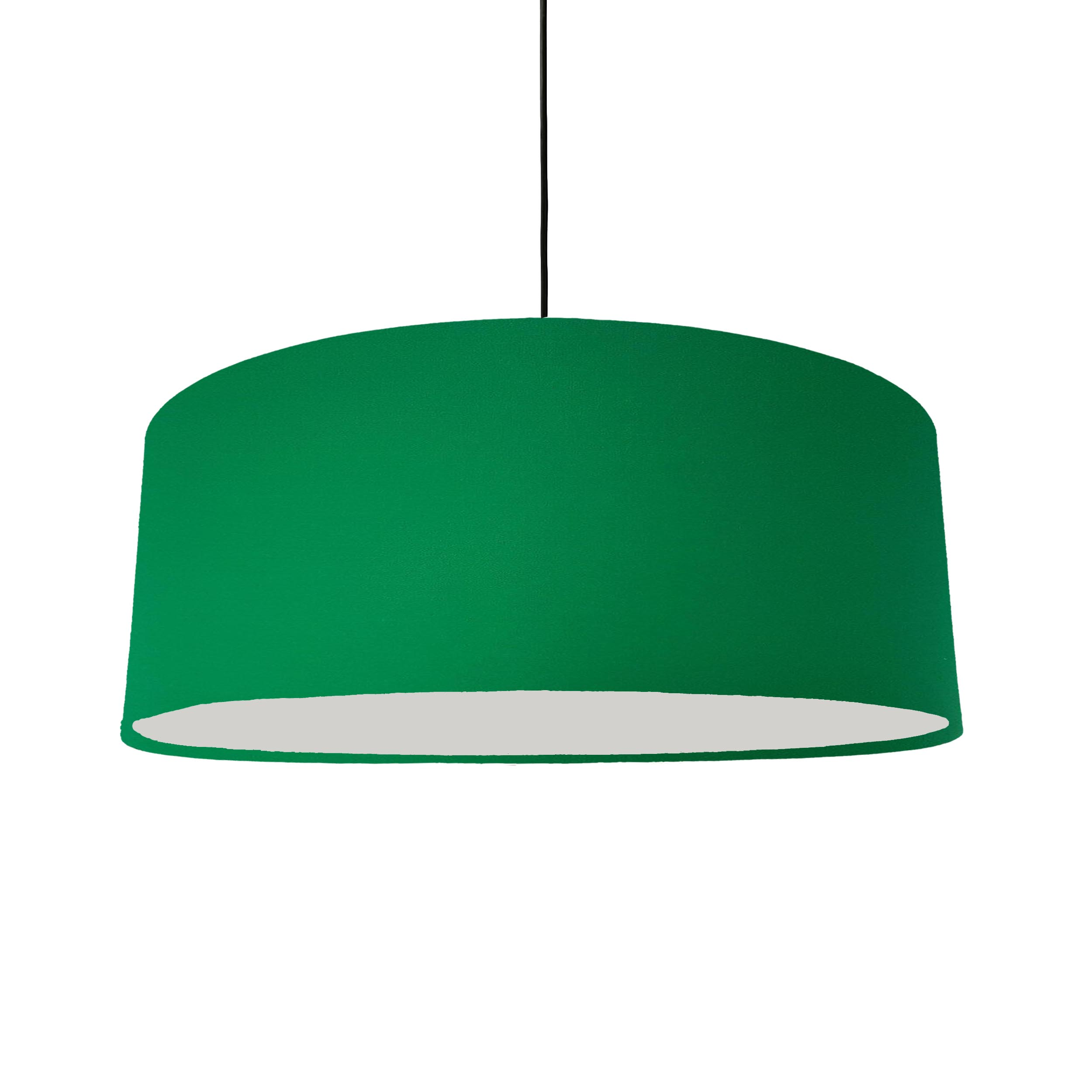 Extra Large Emerald Green Cotton Hanging Lampshade