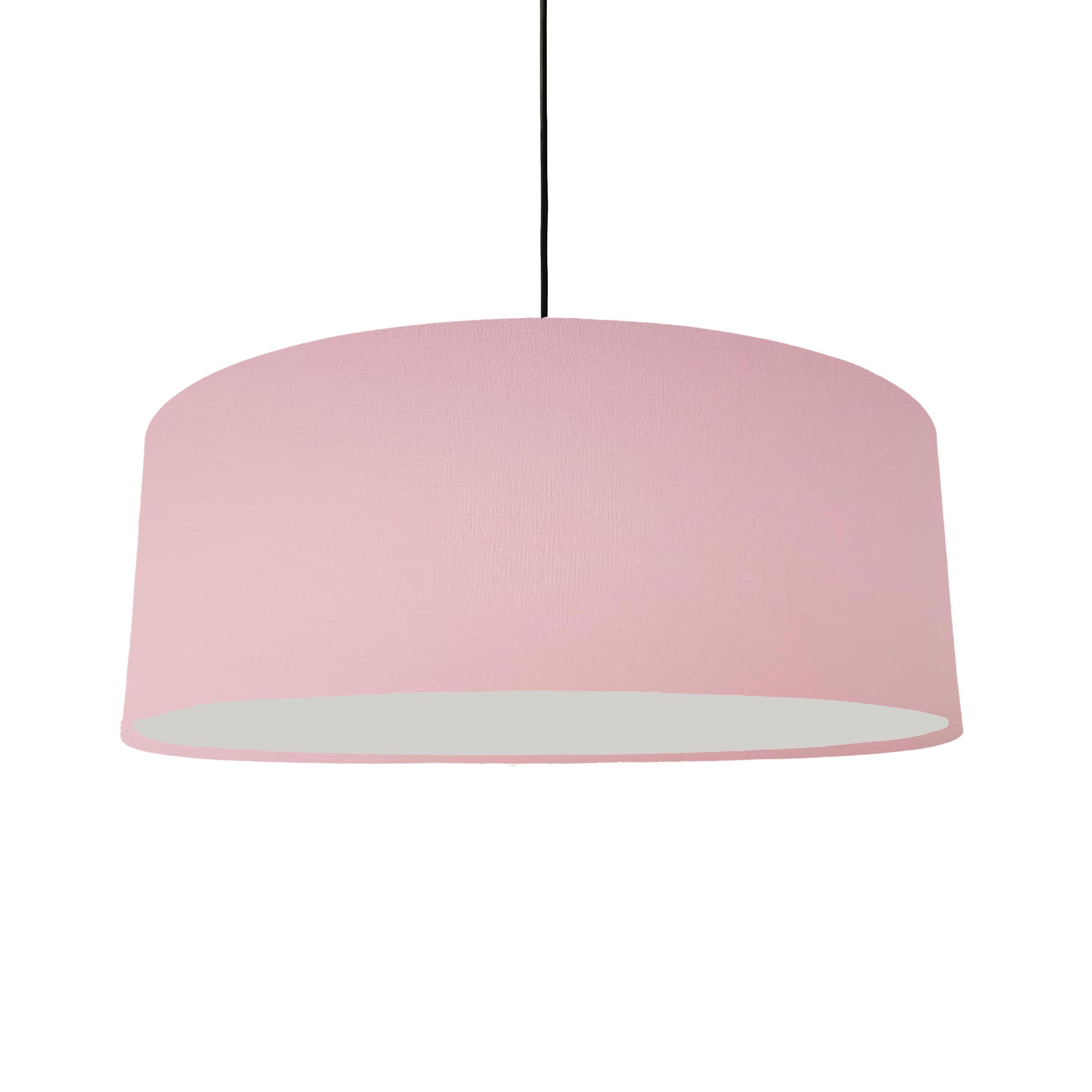 Extra Large Light Pink Cotton Hanging Lampshade