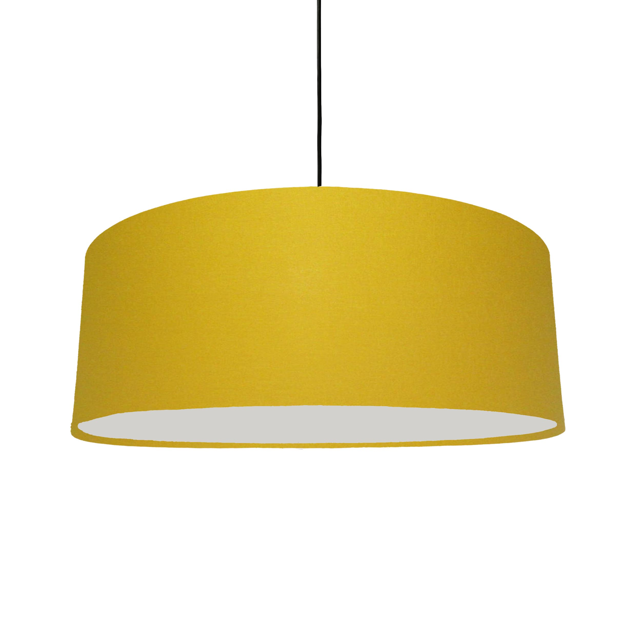 Extra Large Plain Mustard Hanging Lampshade