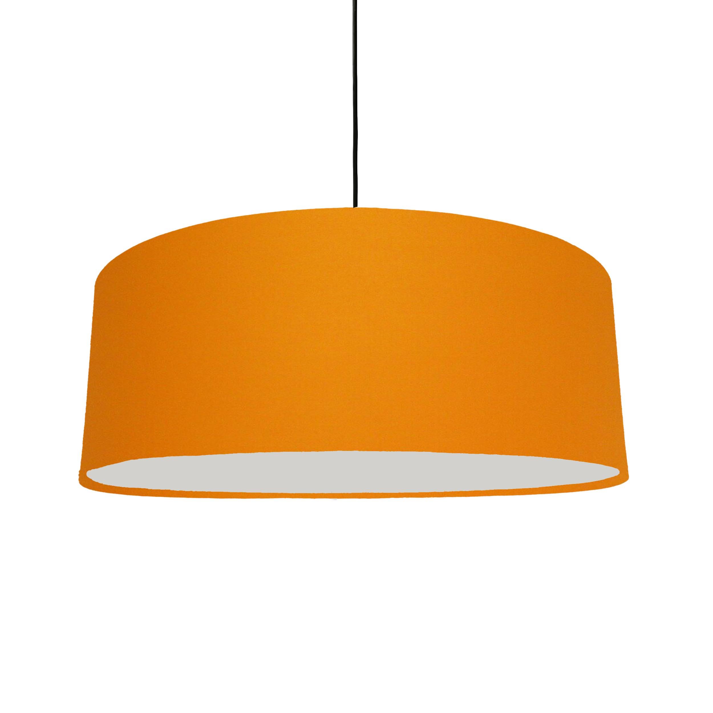 Extra Large Plain Orange Hanging Lampshade