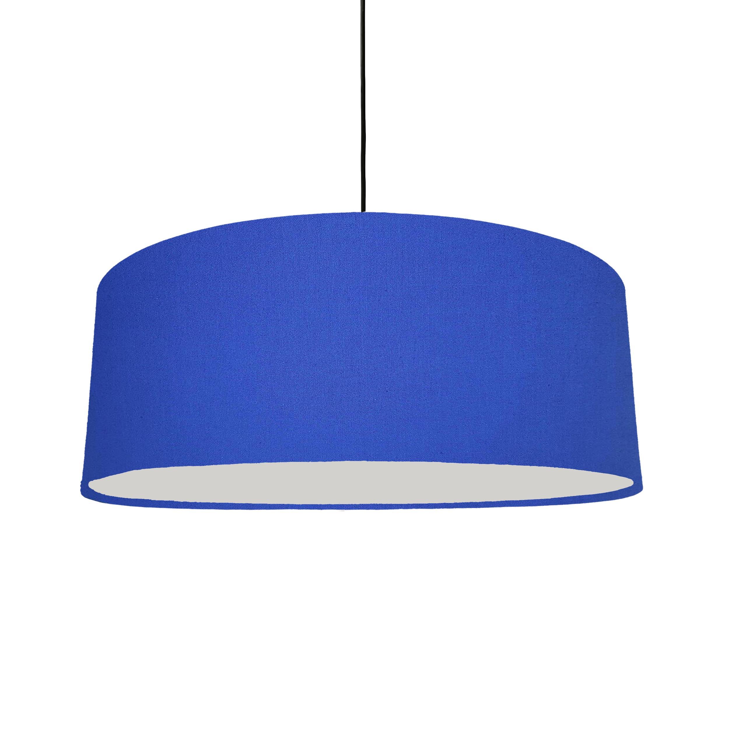 Extra Large Plain Royal Blue Hanging Lampshade