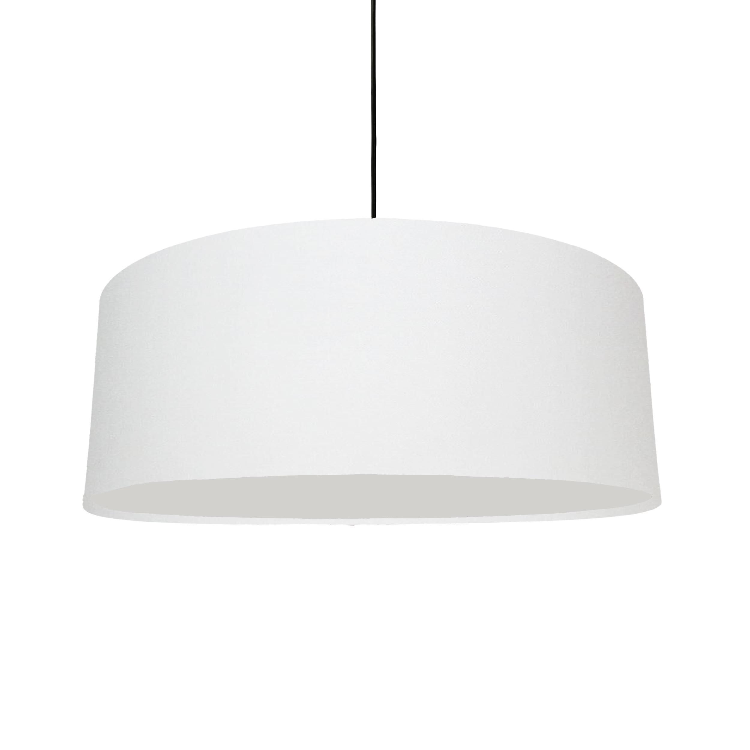 Extra Large Plain Off White Hanging Lampshade
