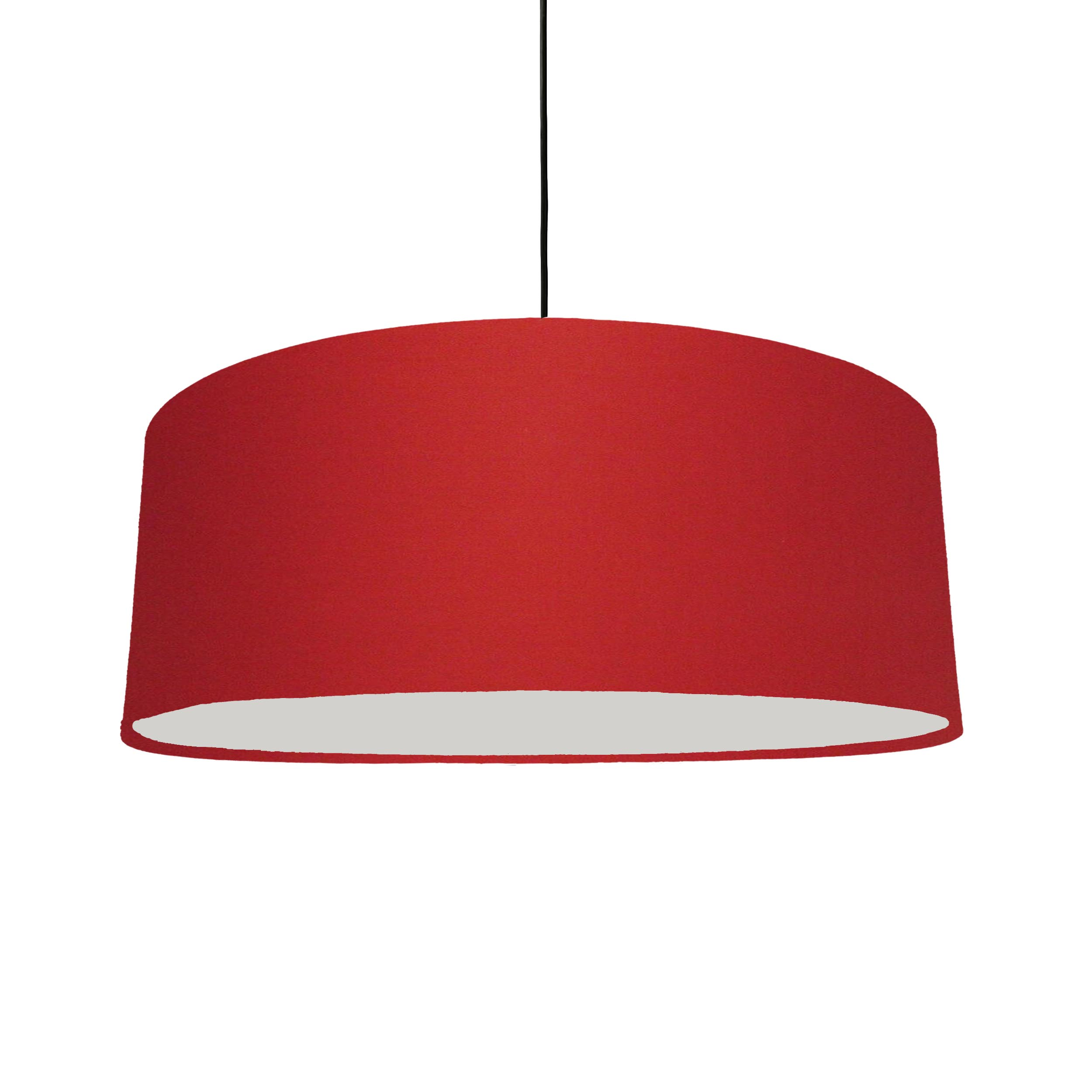 Extra Large Plain Red Hanging Lampshade