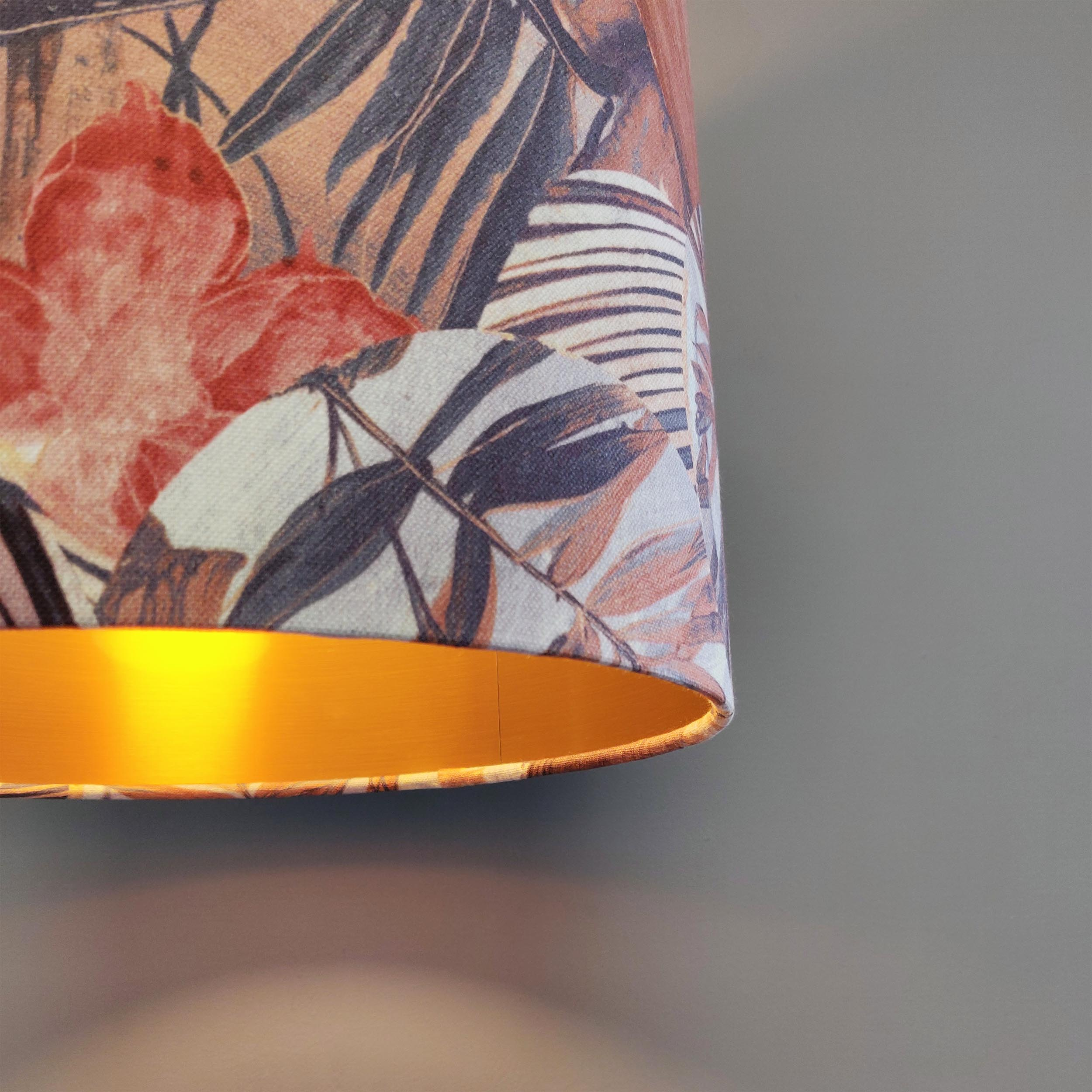 Floral Kyoto Lampshade with Copper Lining