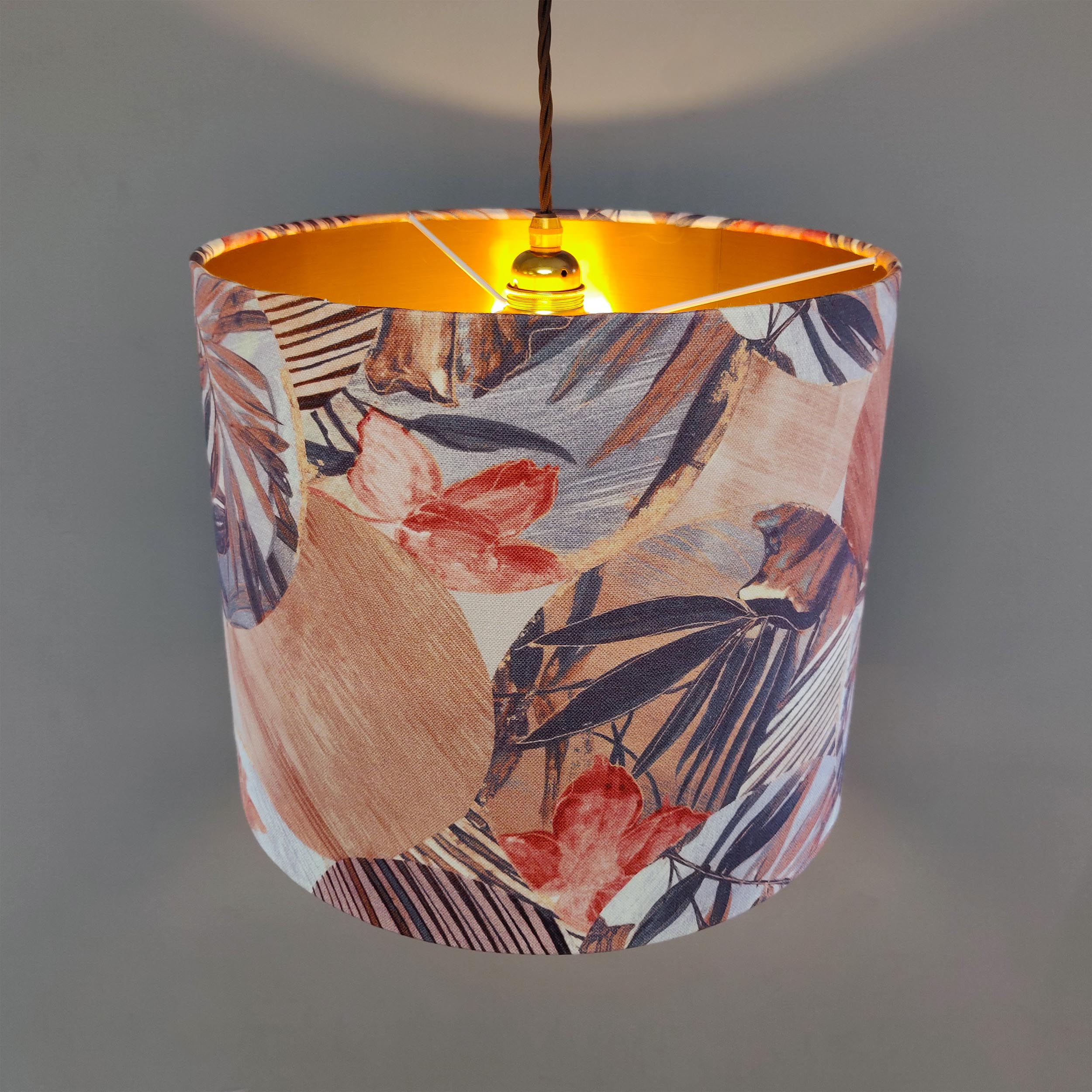 Kyoto Floral Lampshade with Copper Lining