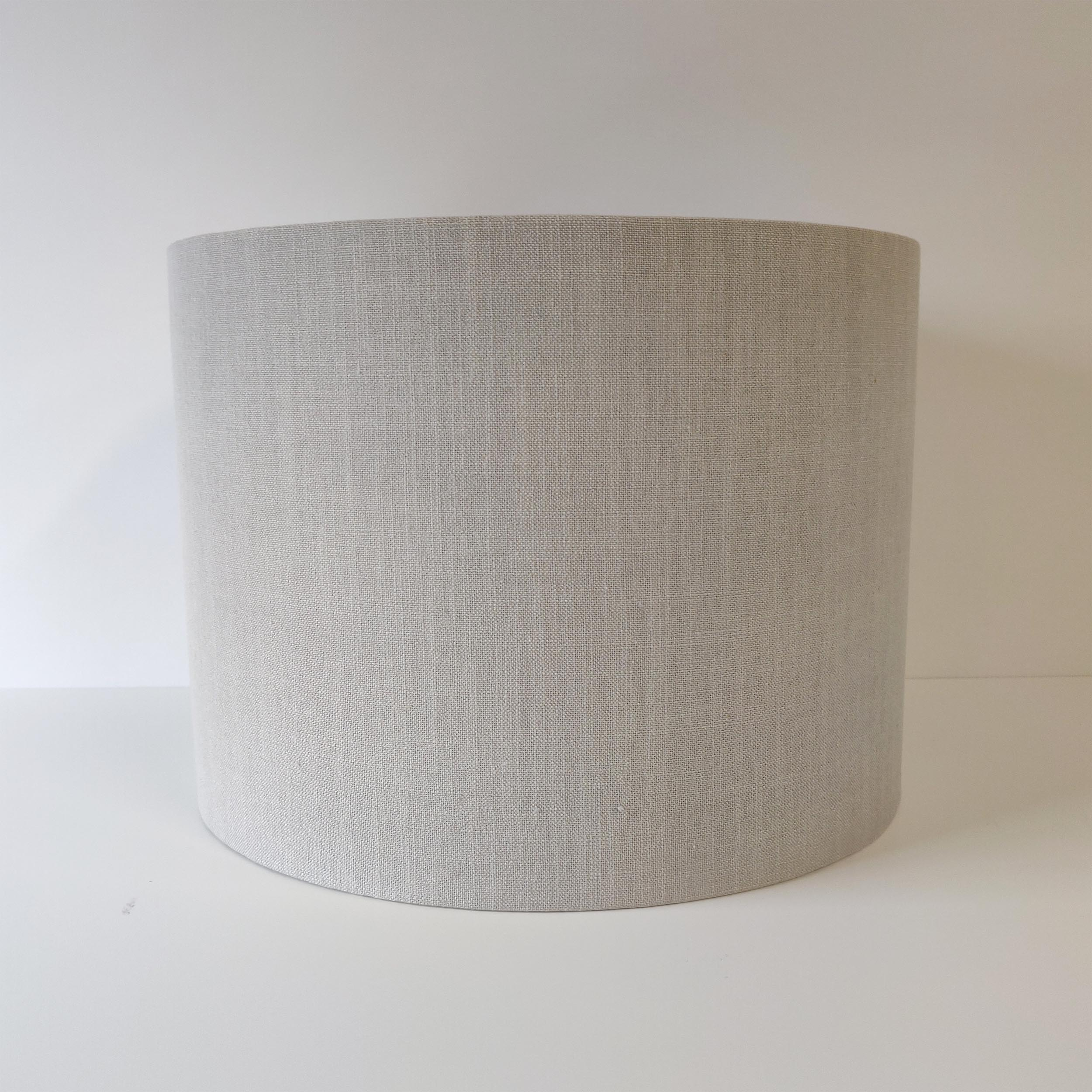 Pale Grey Linen Lampshade